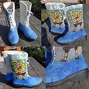 """Обувь ручной работы. Ярмарка Мастеров - ручная работа Ботинки высокие валяные """"Любимый мультик"""". Handmade."""