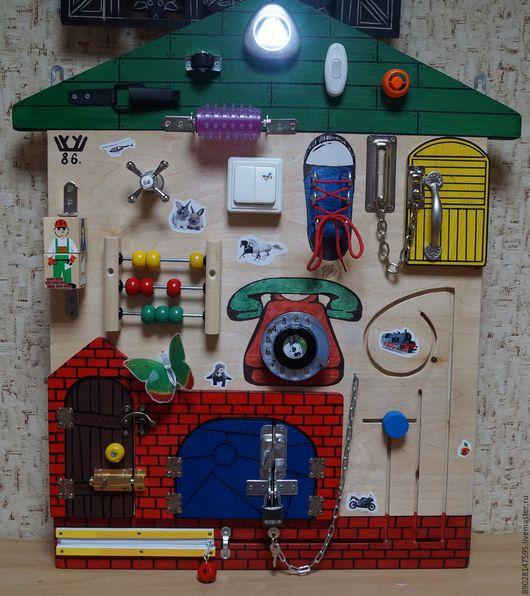 Развивающие игрушки ручной работы. Ярмарка Мастеров - ручная работа. Купить РАЗВИВАЮЩАЯ ДОСКА. Handmade. Комбинированный, развивающий коврик, замочек