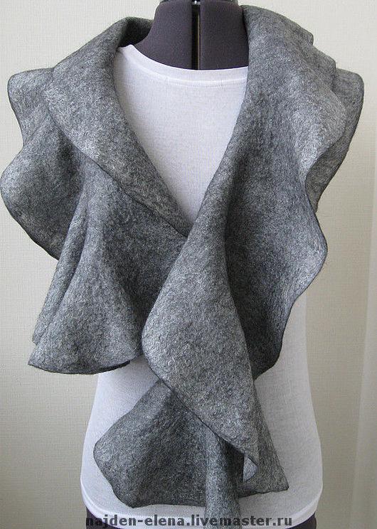 """Шали, палантины ручной работы. Ярмарка Мастеров - ручная работа. Купить шарф-палантин""""Серебро"""". Handmade. Шарф, шарф женский, шёлк"""