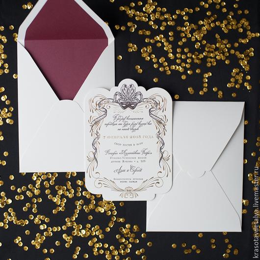 Свадебные открытки ручной работы. Ярмарка Мастеров - ручная работа. Купить свадебное пригласительное. Handmade. Разноцветный, приглашения на свадьбу, пригласительные