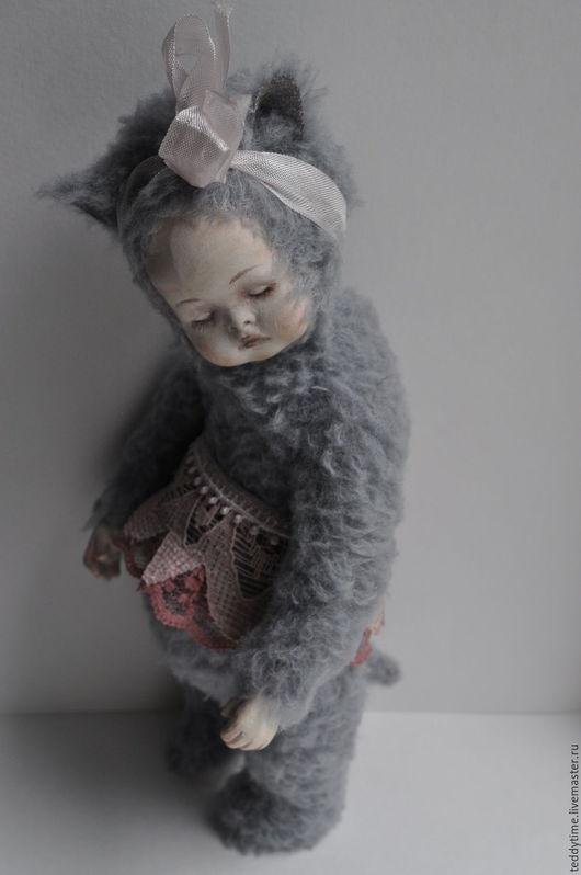 Авторские работы Марии Морозовой. Тедди-долл. Тедди-дети. Котенок .Спящий малыш.
