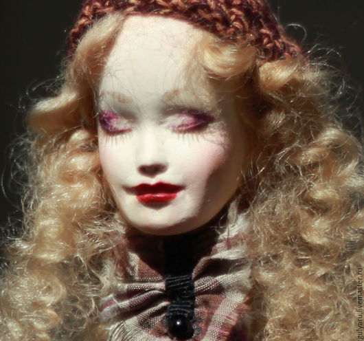 Статуэтки ручной работы. Ярмарка Мастеров - ручная работа. Купить Кукла. Handmade. Фуксия, кукла текстильная, кукольный дом, яйцо