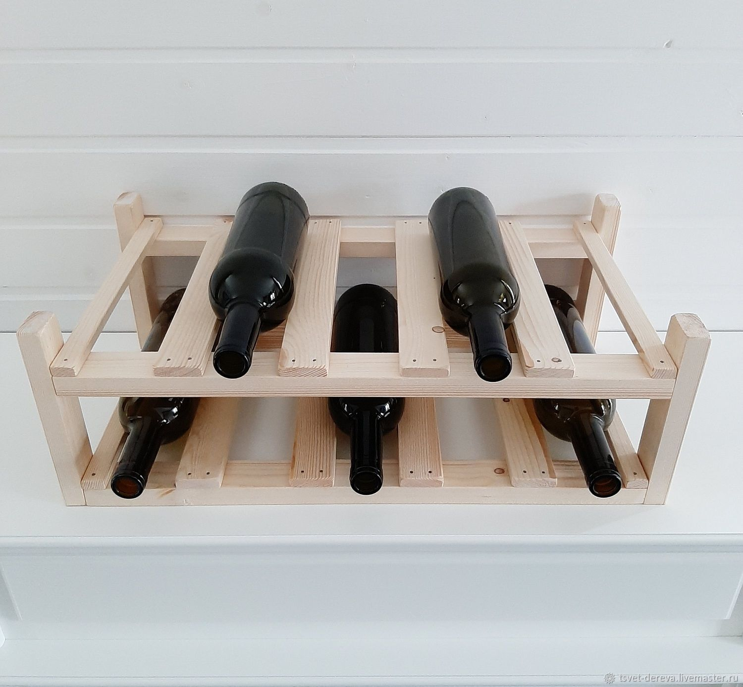 Bunk shelf for wine and champagne under 10 bottles, Stand for bottles and glasses, Moscow,  Фото №1