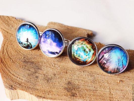 """Кольца ручной работы. Ярмарка Мастеров - ручная работа. Купить Кольцо """"Вселенная цвета"""". Handmade. Комбинированный, яркое"""