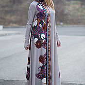 Одежда handmade. Livemaster - original item Long cotton dress, Grey dress, Fancy Maxi dress. Handmade.