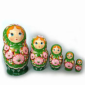 Русский стиль handmade. Livemaster - original item Russian nesting dolls 5 local