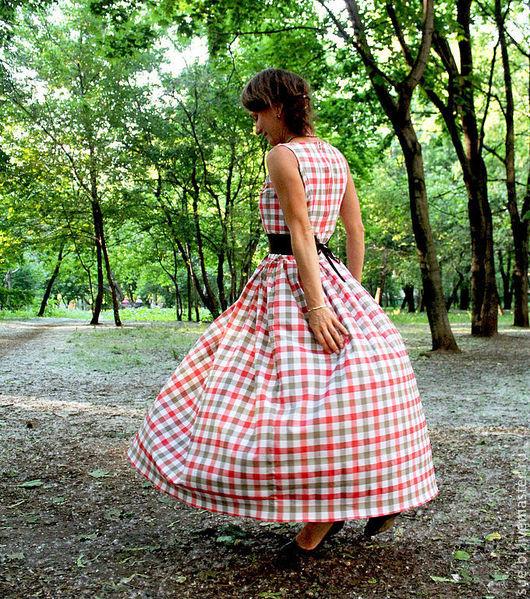 """Платья ручной работы. Ярмарка Мастеров - ручная работа. Купить Длинное платье в клетку """"Банжамин"""". Handmade. Длинное платье в клетку"""