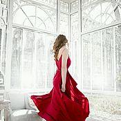 Одежда ручной работы. Ярмарка Мастеров - ручная работа Платье Нимфа в цвете бордо. Handmade.