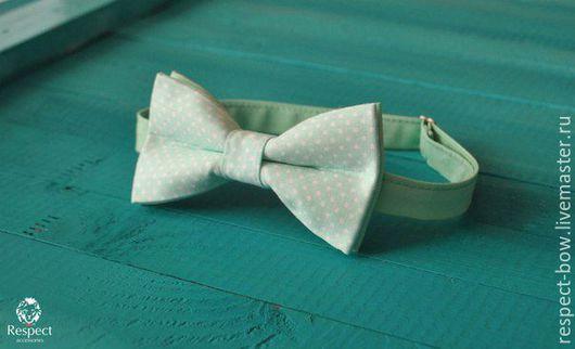 Галстуки, бабочки ручной работы. Ярмарка Мастеров - ручная работа. Купить Галстук бабочка Забота / салатовая бабочка-галстук в горошек. Handmade.