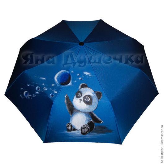 """Зонты ручной работы. Ярмарка Мастеров - ручная работа. Купить Зонт  с ручной росписью """"Панда"""". Handmade. Зонт, зонт на заказ"""