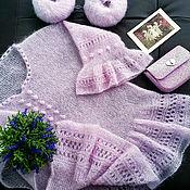 """Одежда ручной работы. Ярмарка Мастеров - ручная работа Блузка из кид-мохера """"Нежный лиловый"""". Handmade."""