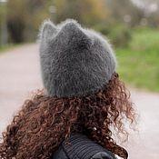 Схемы для вязания ручной работы. Ярмарка Мастеров - ручная работа Cat hat (описание). Handmade.