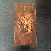 Сувениры и подарки ручной работы. Ярмарка Мастеров - ручная работа Доска для покера на костях Геральт и Йеннифэр. Handmade.