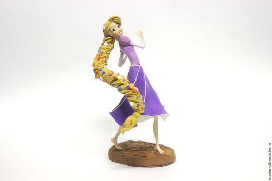 Сказочные персонажи ручной работы. Ярмарка Мастеров - ручная работа. Купить фигурка Рапунцель. Handmade. Сиреневый, дисней, статуэтка, мультфильм