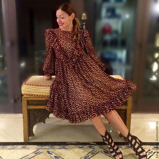 """Платья ручной работы. Ярмарка Мастеров - ручная работа. Купить Шифоновое платье """"Хиппи style"""". Handmade. Комбинированный, креп-шифон"""