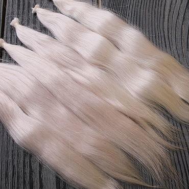 Материалы для творчества ручной работы. Ярмарка Мастеров - ручная работа Волосы для кукол: окрашенные (блонд). Handmade.