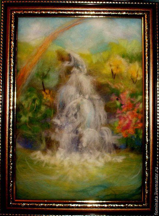 """Пейзаж ручной работы. Ярмарка Мастеров - ручная работа. Купить картина """"Земля - это рай"""". Handmade. Комбинированный, подарок девушке, джунгли"""