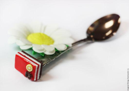 Ложки ручной работы. Ярмарка Мастеров - ручная работа. Купить Вкусная ложка с декором с тортиком сладкая ложка. Handmade.