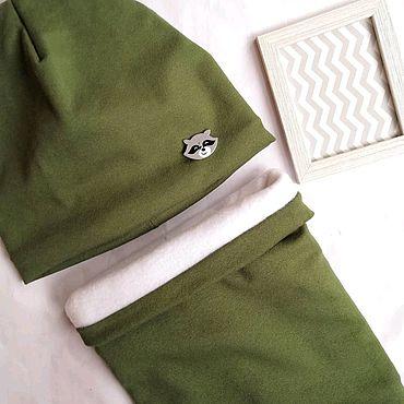 Одежда ручной работы. Ярмарка Мастеров - ручная работа Комплект шапка + снуд. Handmade.