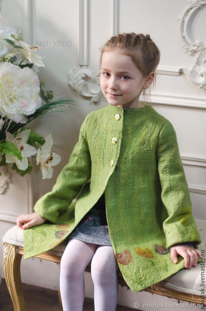 coat: Coat felted Tulips in April, Childrens outerwears, Dnepropetrovsk,  Фото №1