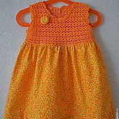 Работы для детей, ручной работы. Ярмарка Мастеров - ручная работа Платье для девочки 1-2 лет. Handmade.