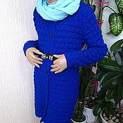 """Одежда ручной работы. Ярмарка Мастеров - ручная работа Пальто""""Синее синего"""". Handmade."""