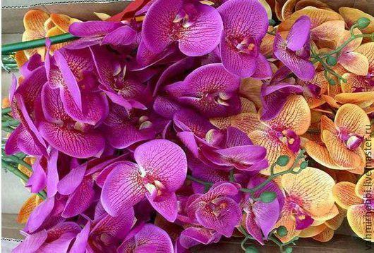 Другие виды рукоделия ручной работы. Ярмарка Мастеров - ручная работа. Купить Д/в 357 Орхидея Фаленопсис силикововая 90 см. Handmade.