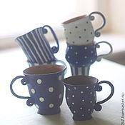"""Посуда ручной работы. Ярмарка Мастеров - ручная работа набор кружек """"утро в Провансе"""" для Натальи. Handmade."""