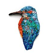 Материалы для творчества handmade. Livemaster - original item Author stripe (applique) handmade bird Kingfisher. Handmade.