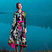 Одежда ручной работы. Ярмарка Мастеров - ручная работа Шелковое платье-самурай. Handmade.