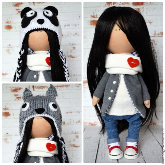 Куклы тыквоголовки ручной работы. Ярмарка Мастеров - ручная работа. Купить Кукла со сменными шапочками. Handmade. Комбинированный