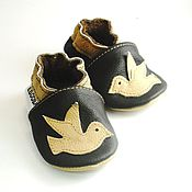Работы для детей, handmade. Livemaster - original item Baby Shoes, Newborn Shoes, Leather Baby Shoes,Bird. Handmade.
