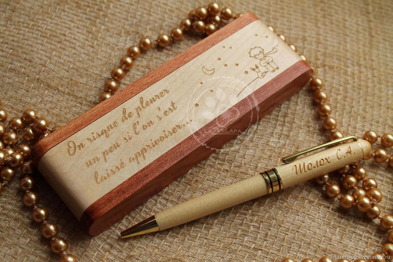 Ручка с именной гравировкой + футляр с любым рисунком надписью, Ручки, Тверь,  Фото №1