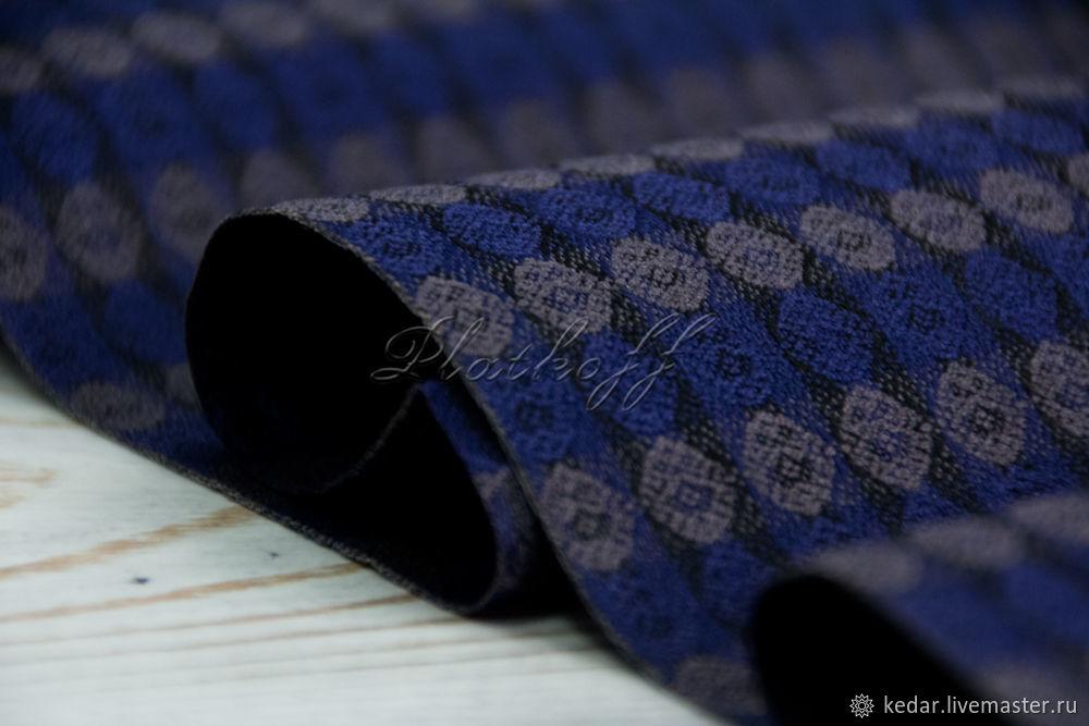 Blue narrow men's wool scarf ' Vivat King'', Scarves, Moscow,  Фото №1