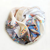 Картины и панно handmade. Livemaster - original item Kangaroo. Scarf, batik on silk. Handmade.