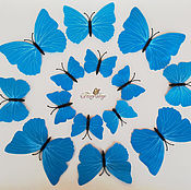 Материалы для творчества handmade. Livemaster - original item Butterfly patterned. Blue. 12 pack. Handmade.