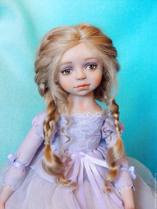 Коллекционные куклы ручной работы. Ярмарка Мастеров - ручная работа. Купить Амелия. Будуарная кукла.. Handmade. Бледно-сиреневый, подарок