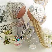 Тыквоголовка ручной работы. Ярмарка Мастеров - ручная работа Влюбленные куклы. Handmade.