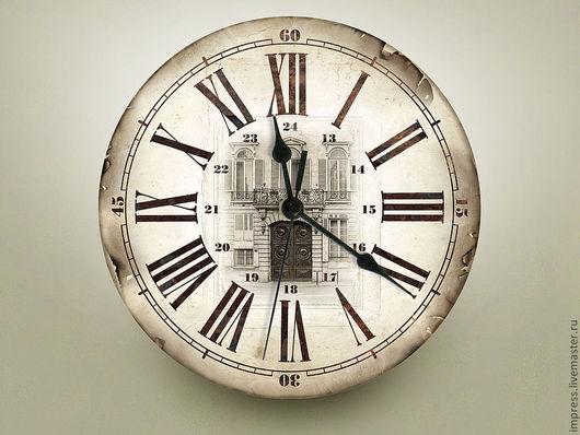Часы для дома ручной работы. Ярмарка Мастеров - ручная работа. Купить часы настенные Архитектура. Handmade. Часы, часы настенные