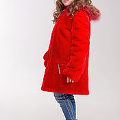 Работы для детей, handmade. Livemaster - original item The red fur coat of Mouton. Handmade.