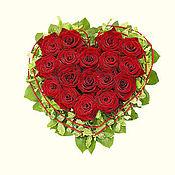 Цветы и флористика ручной работы. Ярмарка Мастеров - ручная работа Сердце из роз. Handmade.