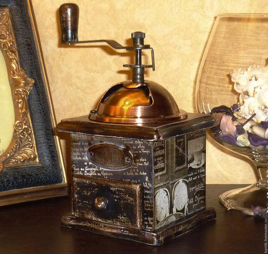 """Кухня ручной работы. Ярмарка Мастеров - ручная работа. Купить Кофемолка """"Cafe de Paris"""". Handmade. Подарки для женщин, для кофе"""