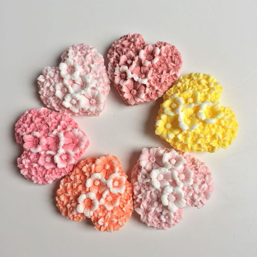 Мыло ручной работы. Ярмарка Мастеров - ручная работа. Купить Мыло сердечко с цветами. Handmade. Мыло ручной работы