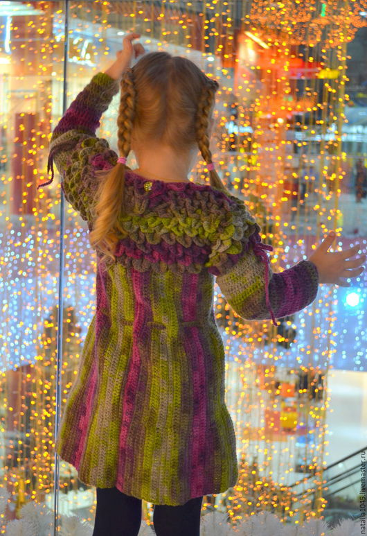 Одежда для девочек, ручной работы. Ярмарка Мастеров - ручная работа. Купить Платье Радужная чешуя. Handmade. Комбинированный, зимнее платье