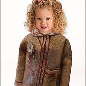 Одежда ручной работы. Ярмарка Мастеров - ручная работа Валяная курточка для девочки Весенняя. Handmade.