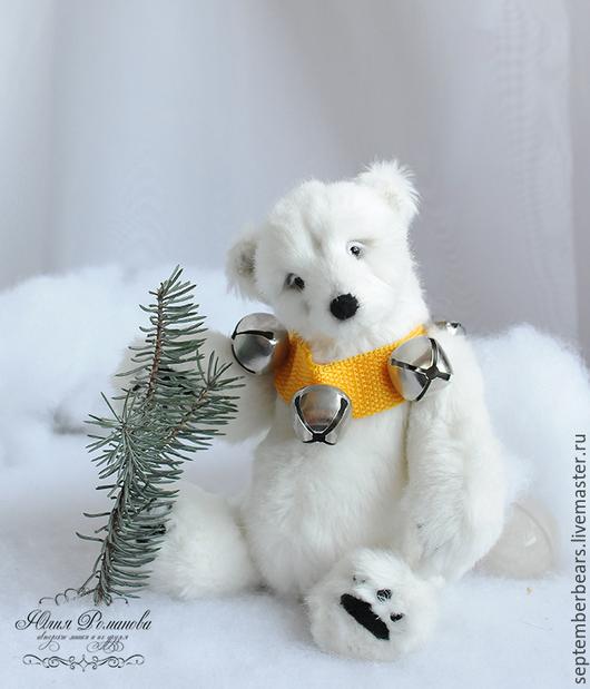 Мишки Тедди ручной работы. Ярмарка Мастеров - ручная работа. Купить белая медведица Паола. Handmade. Белый, медведица