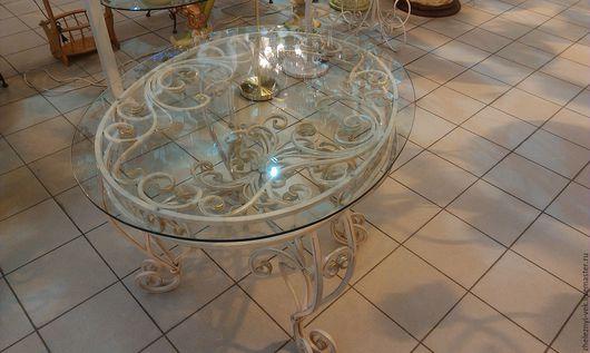 Мебель ручной работы. Ярмарка Мастеров - ручная работа. Купить Кованый стол. Handmade. Белый, художественная ковка