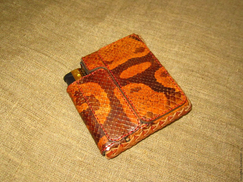 Slim cigarette case for short cigarettes with a lighter, Cigarette cases, Nizhnij Tagil,  Фото №1