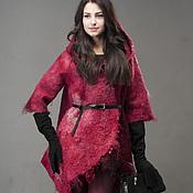 "Одежда ручной работы. Ярмарка Мастеров - ручная работа Куртка валяная ""Гранат"". Handmade."