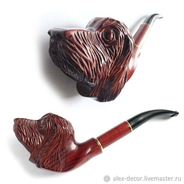 Подарки для мужчин, ручной работы. Ярмарка Мастеров - ручная работа. Купить Курительная трубка объемная 'SPANIEL'. Handmade. Трубка, коричневый